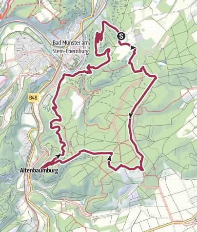 Map / Vitaltour Rheingrafenstein - Bad Kreuznach - Bad Münster am Stein