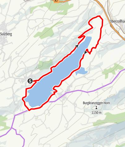 Karte / Mit dem Rad um den Rottachsee