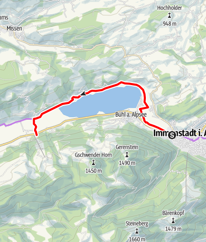 Karte / Am Großen Alpsee.