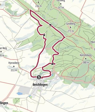 Karte / Hohe Schrecke: Rundweg Beichlinger Schmücke