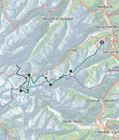 Karte / Stubaier Grenzrunde