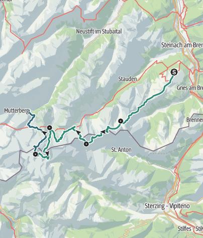 地图 / Stubaier Grenzrunde