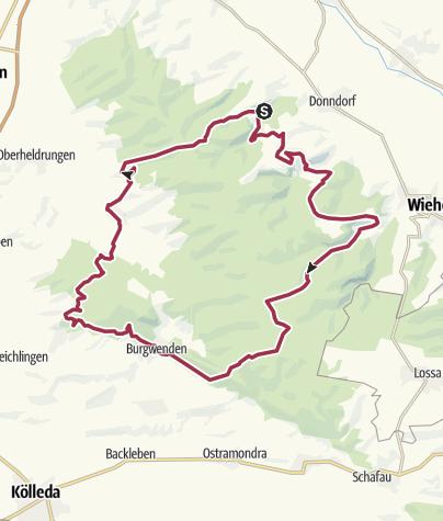 Karte / Hohe Schrecke: Großer Hohe-Schrecke-Rundweg