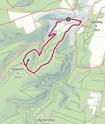 Karte / Hohe Schrecke: Rabenswald-Familienweg
