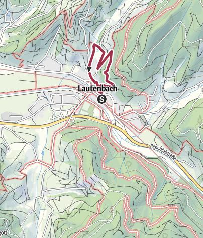 地图 / Lautenbacher Panoramaweg Tour 1