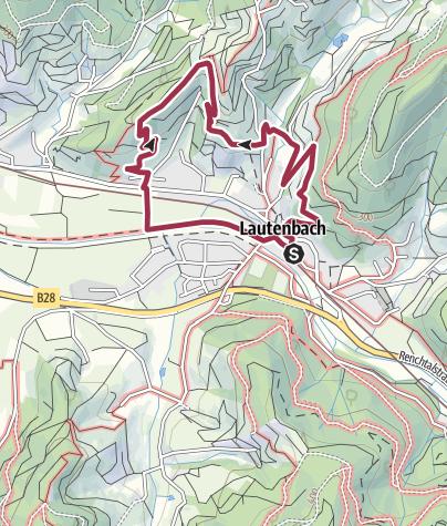 Karte / Lautenbacher Panoramaweg  Tour 2