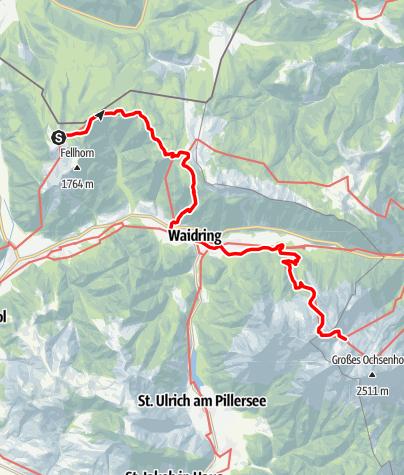 Karte / Übergang vom Straubinger Haus über den Griesbachersteig zur Schmidt-Zabierow-Hütte