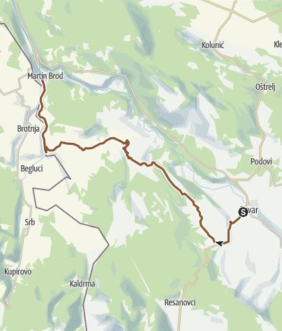 Map / Drvar - Cvjetnić - Martin Brod