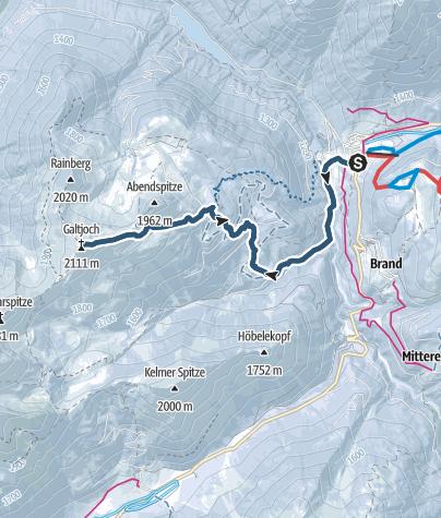 Karte / Galtjoch, 2109 m
