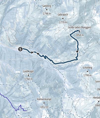 Karte / Großer Gebra, 2057 m
