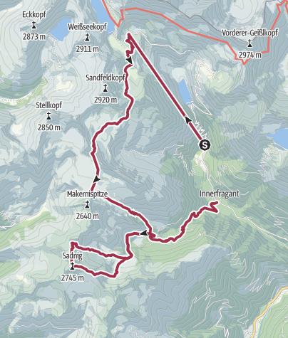 Karte / Sadnig-Höhenweg