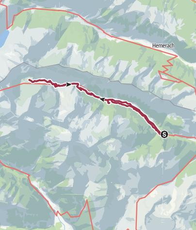 Karte / Zu den Lanischseen, 2226 m