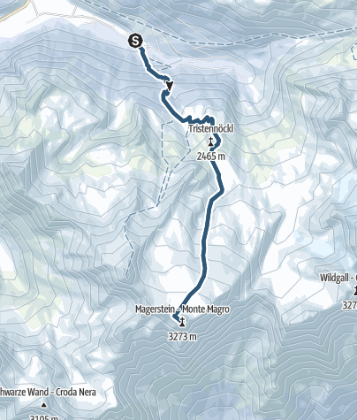 Karte / Magerstein, 3273 m