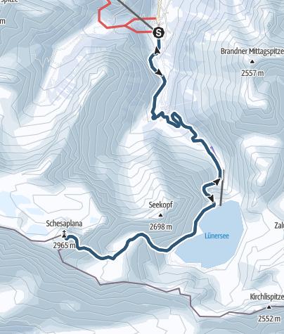Karte / Schesaplana, 2965 m