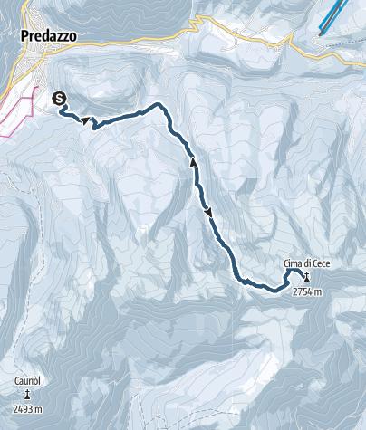 Karte / Cima di Cece, 2754 m