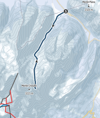 Karte / Cristalloscharte, 2808 m