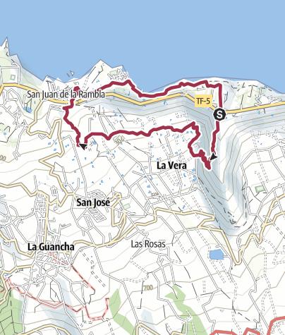 Karte / Barranco de Ruíz – San Juan de La Rambla