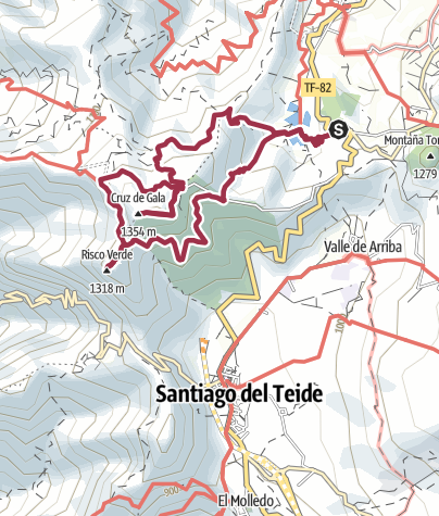 Karte / Cruz de Gala, 1347 m