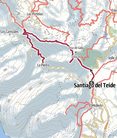 Karte / Santiago del Teide – Masca
