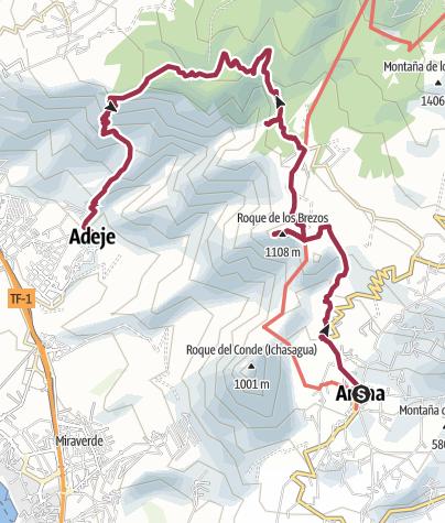 Karte / Arona – Ifonche – Adeje