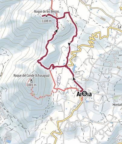 Karte / Roque de los Brezos, 1108 m