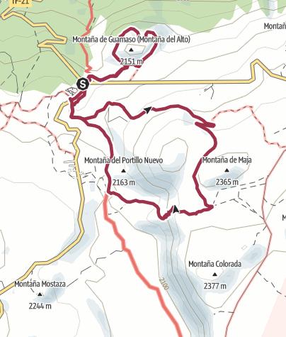 Karte / Arenas Negras und AltodeGuamaso