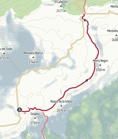 Karte / Siete Cañadas