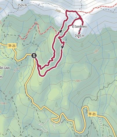 Karte / Sombrero de Chasna, 2405 m