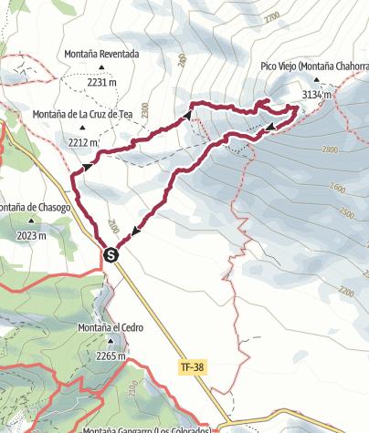 Karte / Mirador de Chío – Pico Viejo