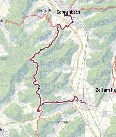 Karte / Gengenbach – Biberach