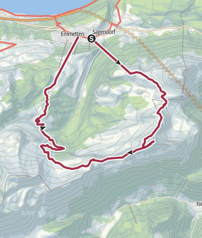 Cartina / Oberbauenstock, 2116 m
