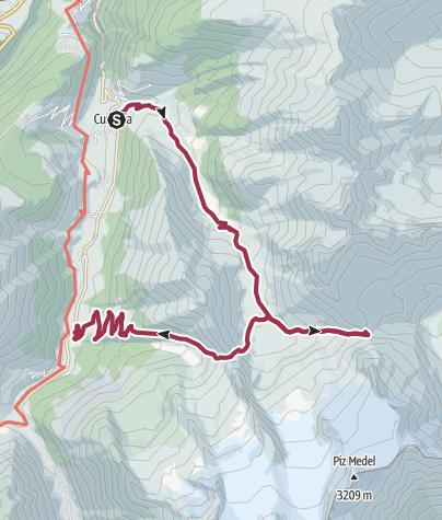 Karte / Aufstieg zur Medelserhütte, 2524 m