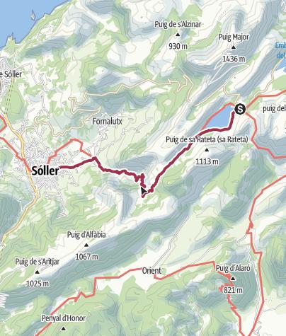 Karte / Stausee Cúber –Sóller