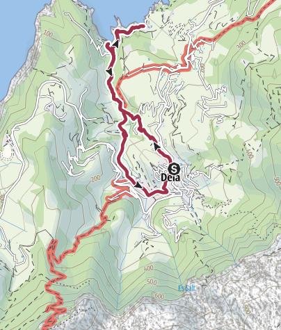 Karte / Von Deià zur Cala de Deià