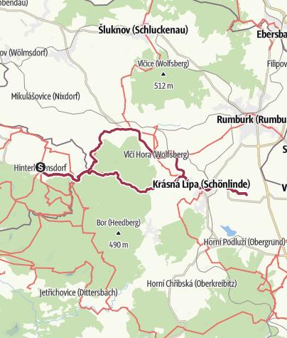 Karte / Radtour: Zur Kirnitzschquelle