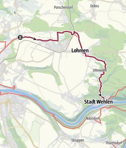 Karte / Malerweg – Etappe 1