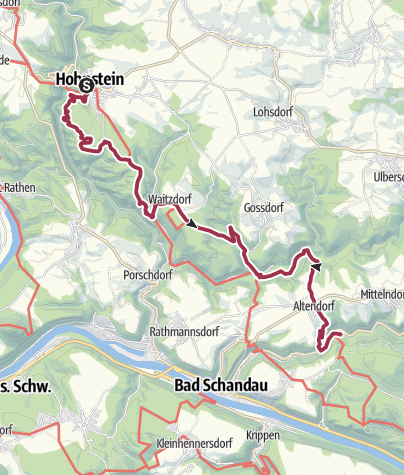 Karte / Malerweg – Etappe 3