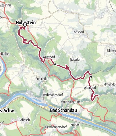 Mapa / Malerweg – Etappe 3