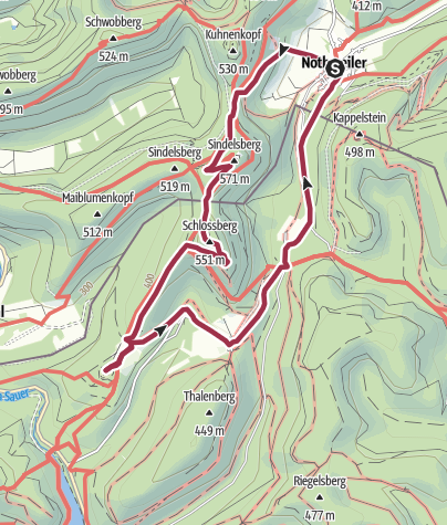 Karte / Felsenburgen bei Nothweiler