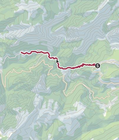 Karte / Spelunca-Schlucht