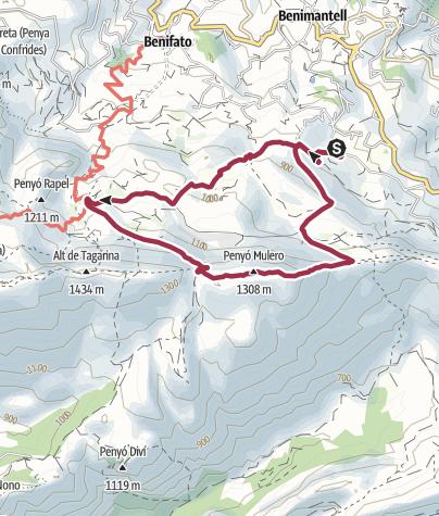 Karte / Peña Mulero, 1306 m