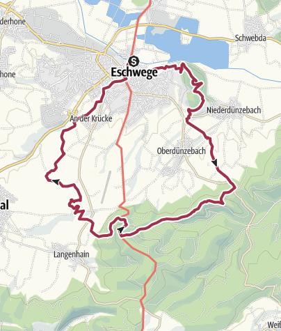 Karte / Leuchtberge, Blauen Kuppe