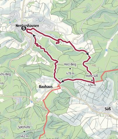 Karte / Rund um die Burg Tannenberg
