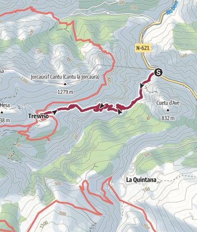 Map / Von Urdón nach Tresviso