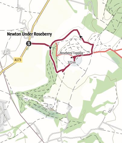 Karte / Roseberry Topping, 320 m