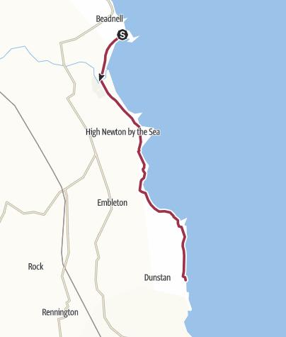 Karte / Dunstanburgh Castle und Craster