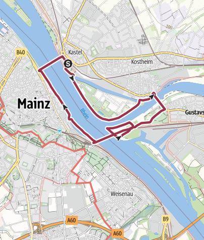 Karte / Mainmündung