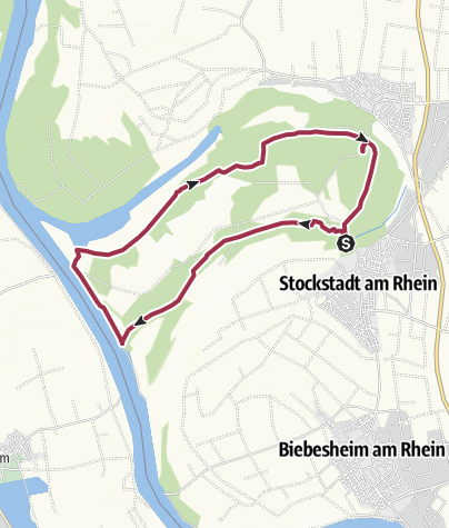 Karte / Kühkopf-Knoblochsaue
