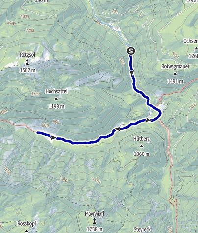 Karte / Durch den Bodinggraben zur Blumaueralm