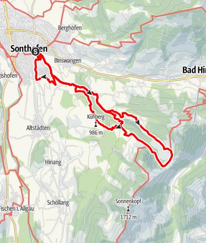 Karte / Erlebnisweg Alpenstadt